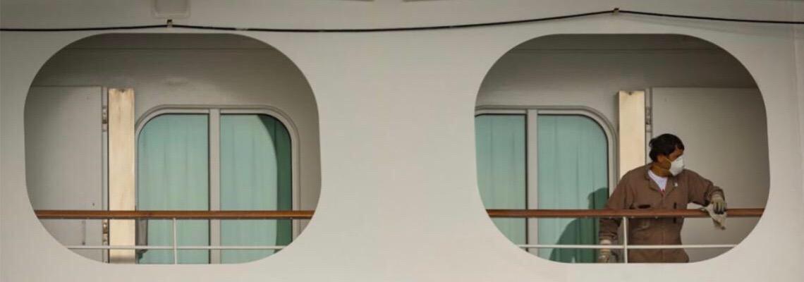 Presos em navios de cruzeiro, os 'degredados da pandemia'