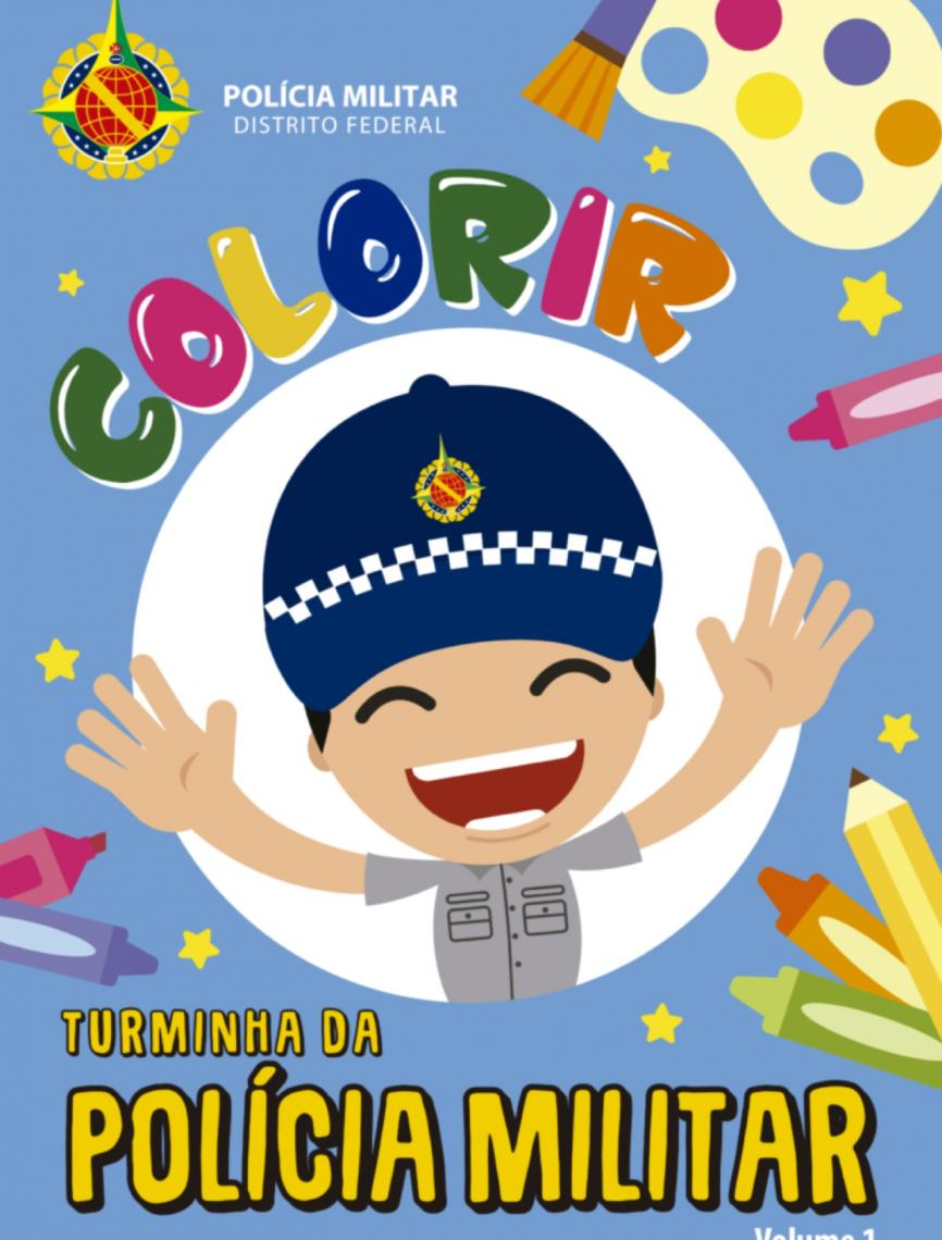PM do Distrito Federal lança primeira revista infantil para colorir