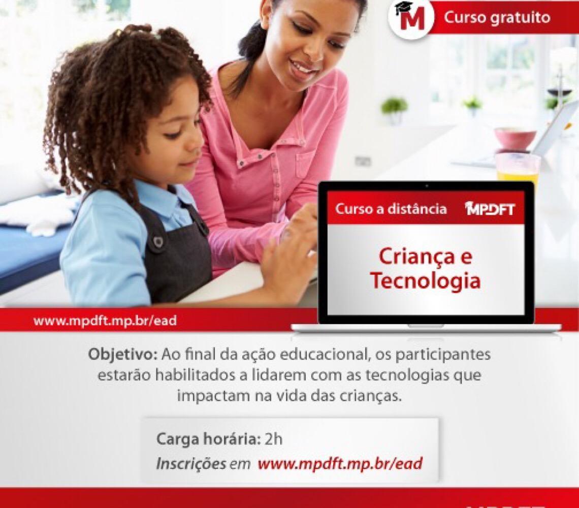 """MP do DF oferece curso EAD """"Criança e tecnologia"""""""