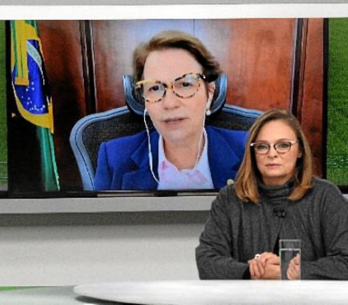 """Tereza Cristina:  """"A retomada passa pela agropecuária"""""""