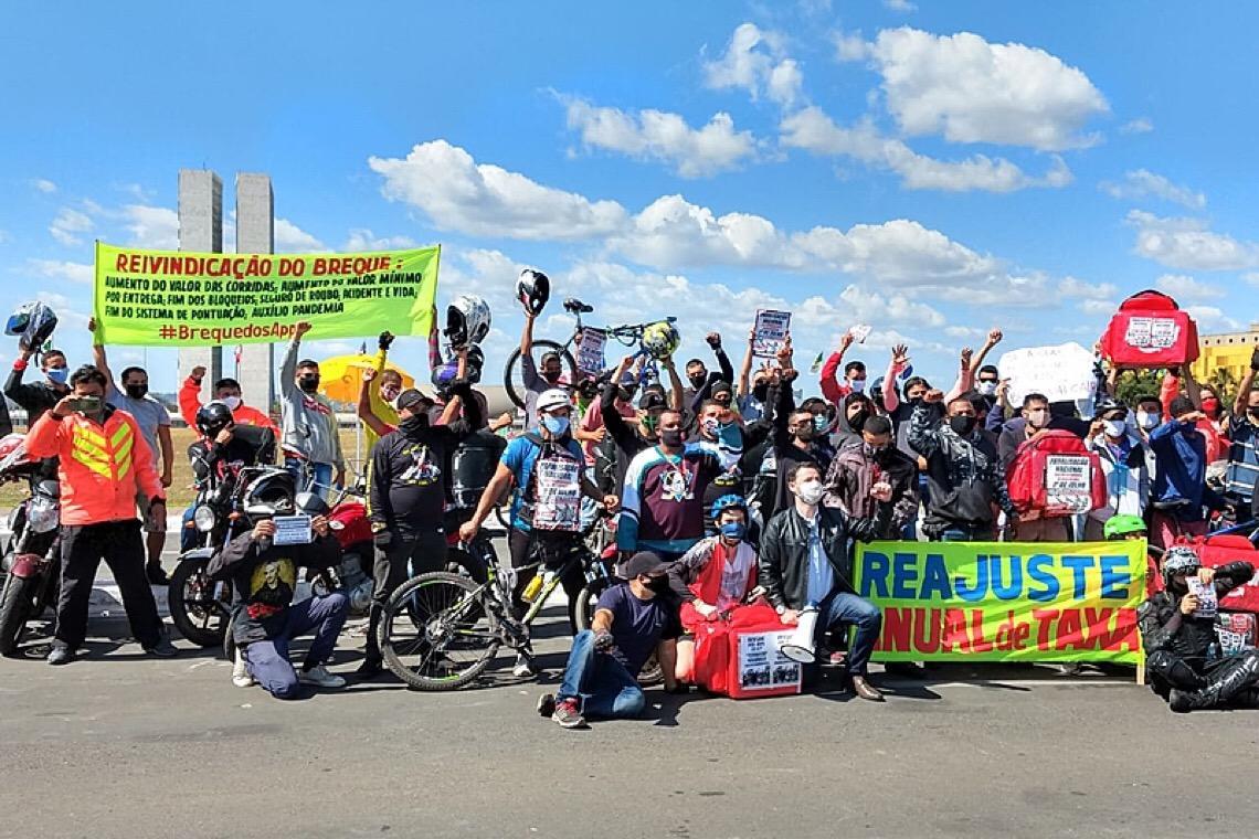 Sindicatos apoiam greve dos entregadores e categoria celebra