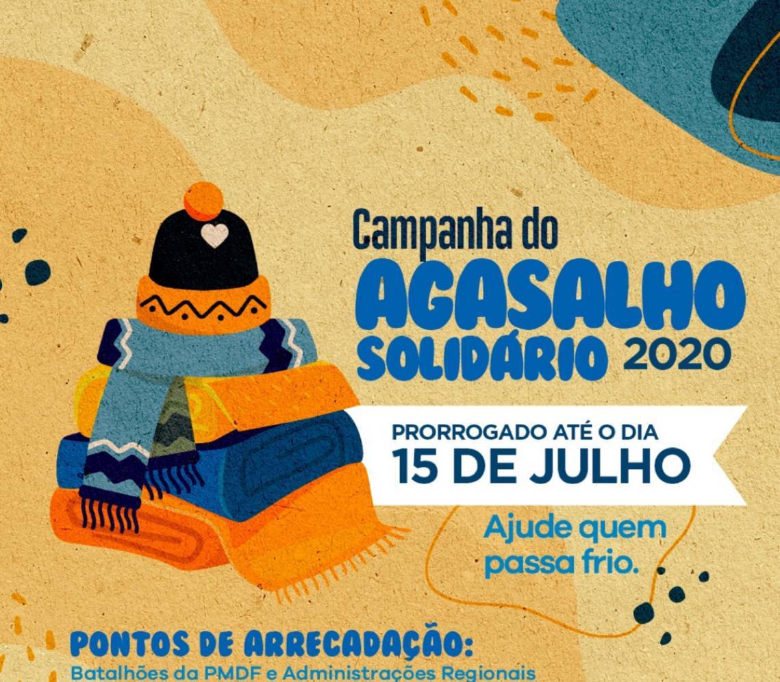 Campanha do Agasalho Solidário é estendida até o dia 15